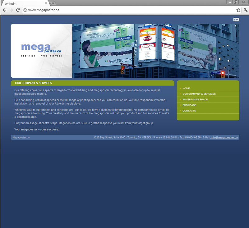 Our company and services page