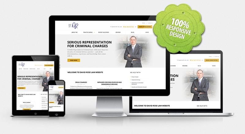 Website for David Rose Law