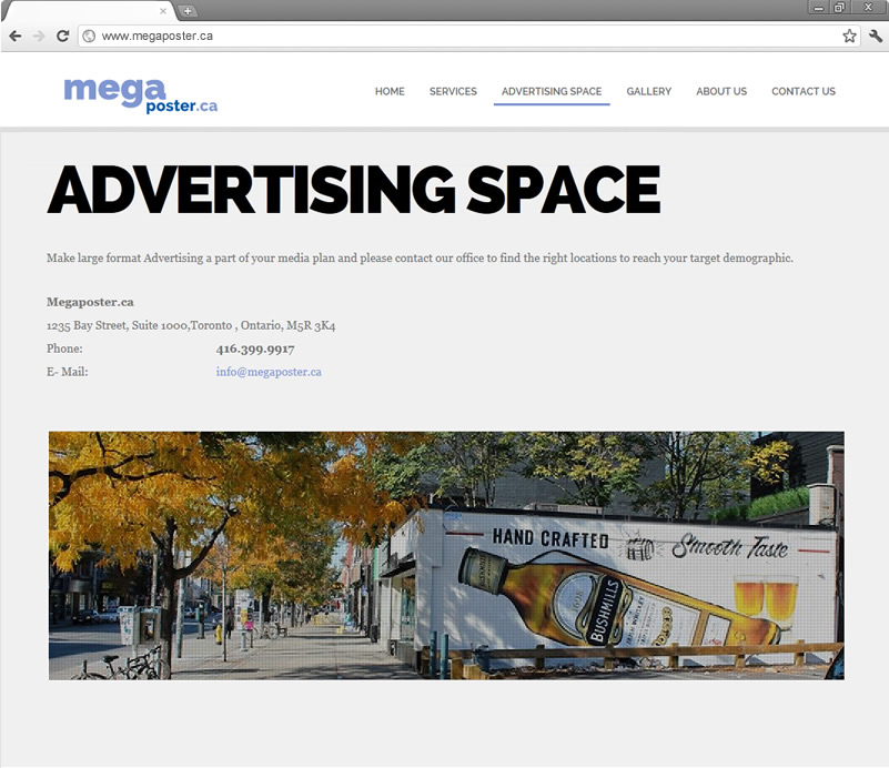 Advertising Space page