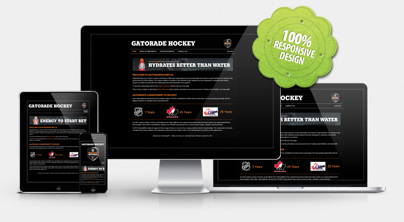 Website for Gatorade Hockey