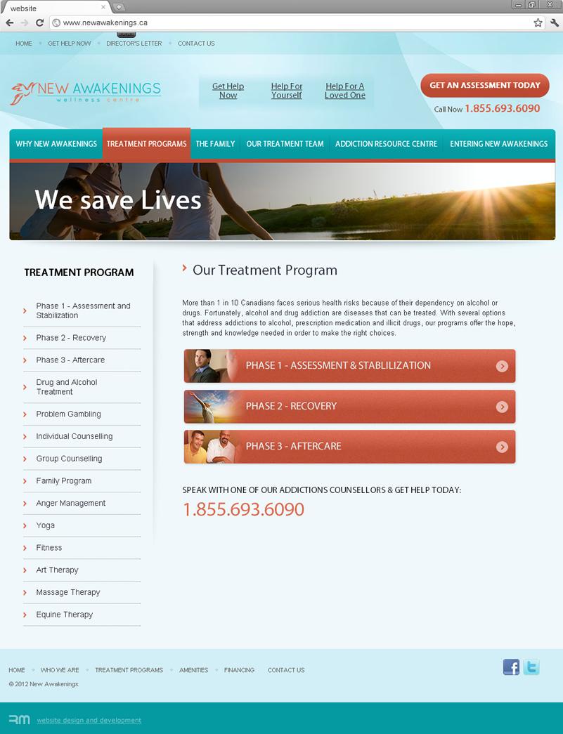 Treatment programs page