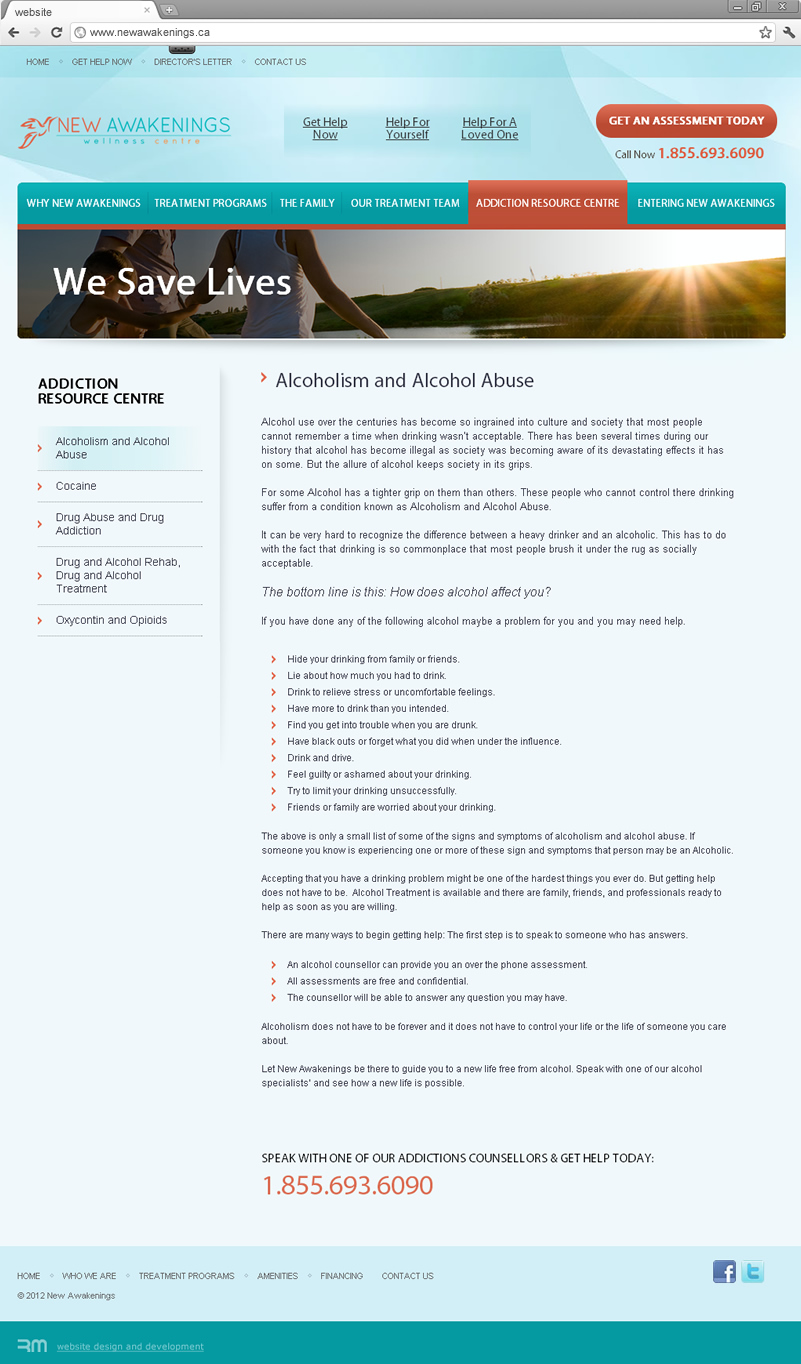 Amenities page