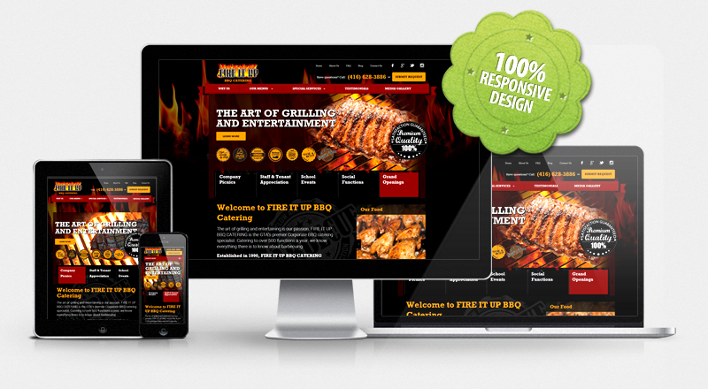 Website for Fire It Up BBQ Catering